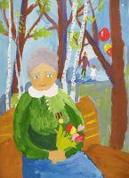 «Мирная весна. Портрет бабушки»