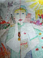 «От прошлого к будущему» Борисов Александр, 5 лет, (2 тур, №60)