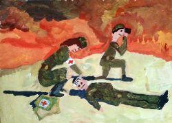 «Раненый»  Белянина Диана, 11 лет (2 тур, №152)