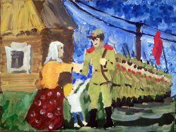 «На передовую» Гуминюк Мария, 12 лет (2 тур, №148)