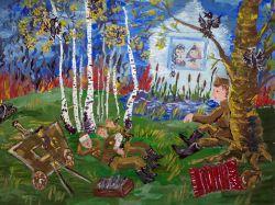 ...НЕ СПИТ СОЛДАТ, ПРИПОМНИЛ ДОМ... Валенюк Настя, 11 лет (2 тур, №334)