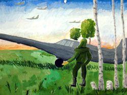 «В воздушный бой» Сенотова Юля, 12 лет