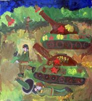 «Танкисты, вперёд!» Кашицына Даша, 9 лет (2 тур, №97)