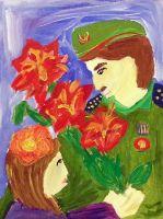 «Радостная встреча» Маринина Алина, 7 лет (2 тур, №139)