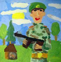 «Солдат на посту» Халявина Аня, 6 лет (2 тур, №95)