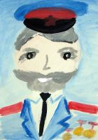 «Портрет моего деда» Байрамов Элгюн, 6 лет (2 тур, №233)