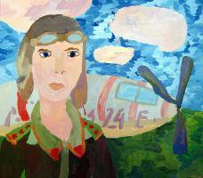 «В небо…» Вахрушева Катя, 10 лет, (2 тур, №93)